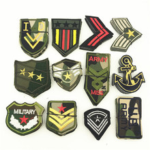 60pcs/5sets US Army Military Patch Sew On Applique Badges Embellishments Embroidery Iron Morale Patches Clothes Stickers