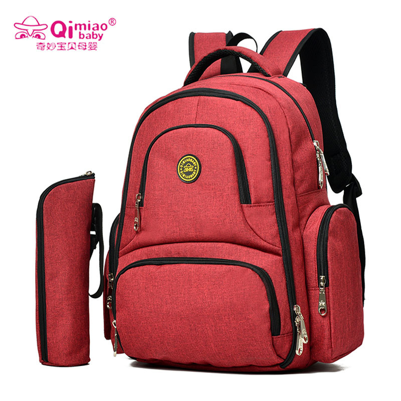 QimiaoBaby Multifunction Nappy Bag Mummy Diaper Bag Travel Backpack Baby Nursing Bags Waterproof Outdoor Bag