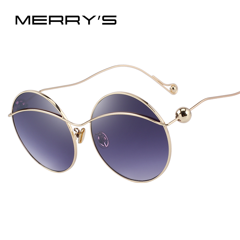 MERRYS DESIGN Women Butterfly Gradient Sunglasses Round Frame 100% UV Protection S6361