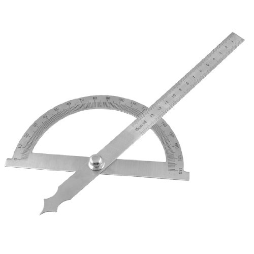 5pack Gray StaInless Steel Rotating 180 Degree Measurement Protractor Metric 15cm Ruler