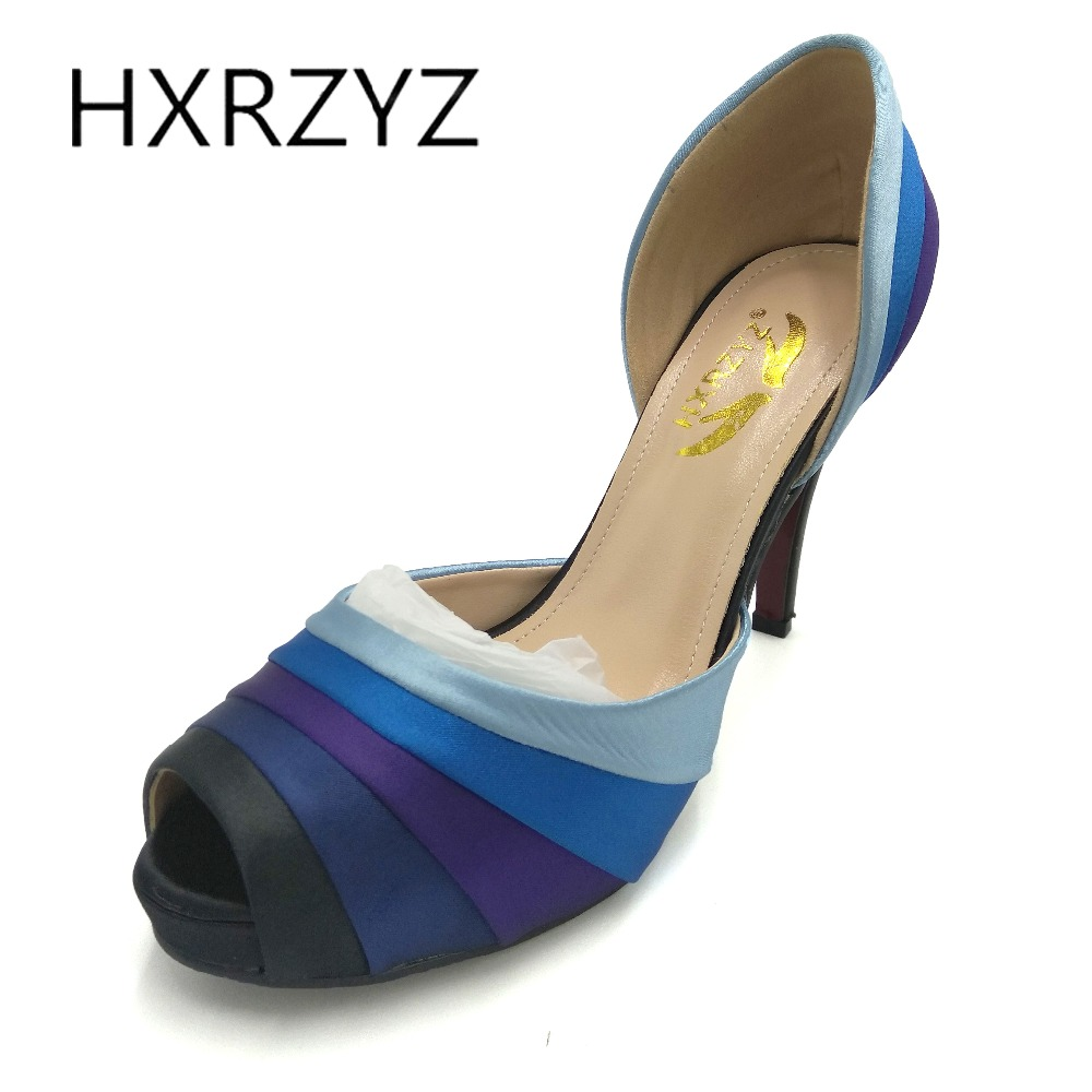 HXRZYZ summer high heels women party dress shoes fashion silk spell color open toe women super high heel red shoes women pumps wholesale lttl new spring summer high heels shoes stiletto heel flock pointed toe sandals fashion ankle straps women party shoes