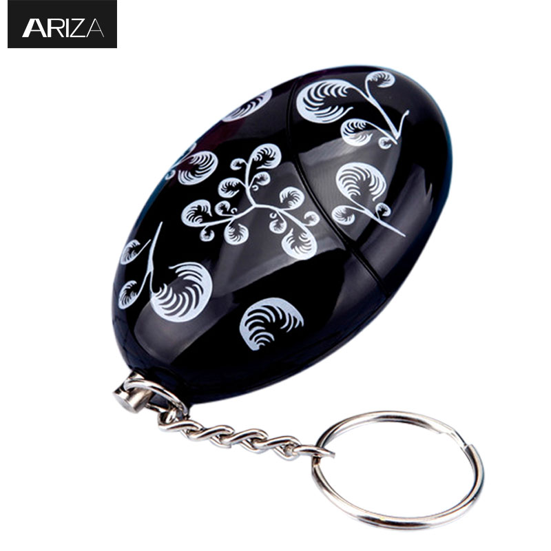 Ariza portable self defense supplies emergency personal panic alarm protection keychain alarm security system alarm with 120db 2016 2pcs a lot self defense supplies alarm personal key ring protection alarm alert attack panic safety security rape alarm