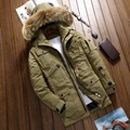 High quality pockets design thickening white duck down coat men plus size fur hooded warm casual jacket men's clothing MMF1