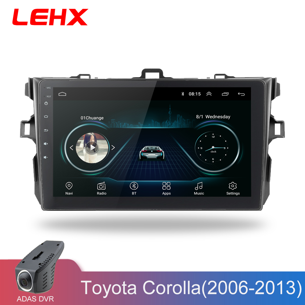 LEHX Car Radio Android 8.1 Multimedia Player For Toyota Corolla GPS Navigation