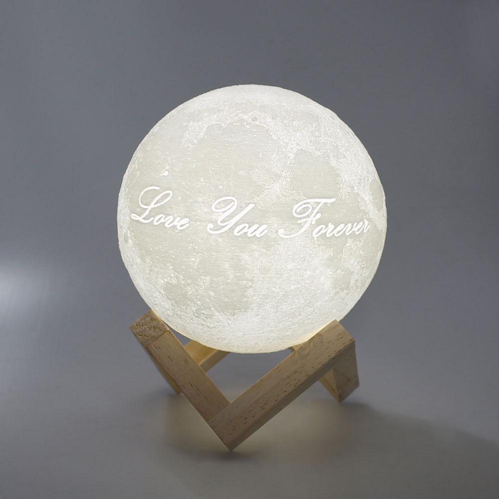 Customized Romantic 3D printed Moon light(Double colors or 16colors) Novelty home decoration 12CM 15CM 20CM 22CM atmosphere lamp