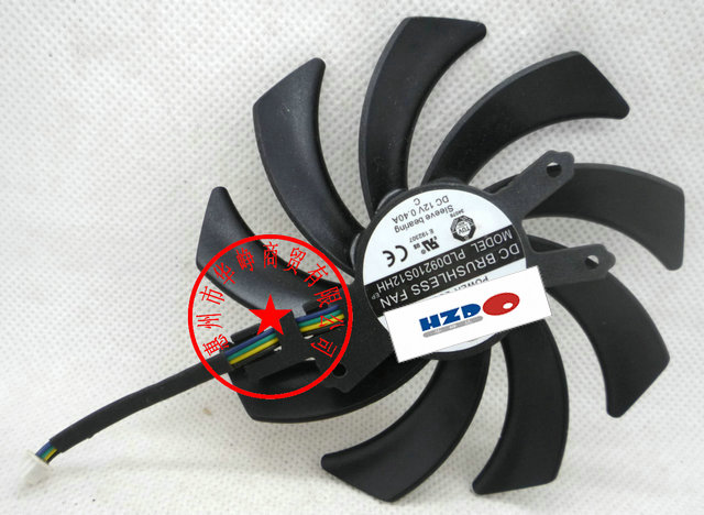 Free shipping HZDO PLD09210S12HH <font><b>GTX760</b></font> Graphics cards Cooling <font><b>fan</b></font> image