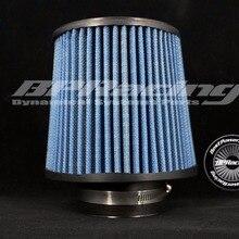 """BPRACING """" дюйма/76 мм ID/общий высокий 6,89"""" дюйма 175 мм/Универсальный конус круглый конический воздух межхлопковый марлевый фильтр синий"""