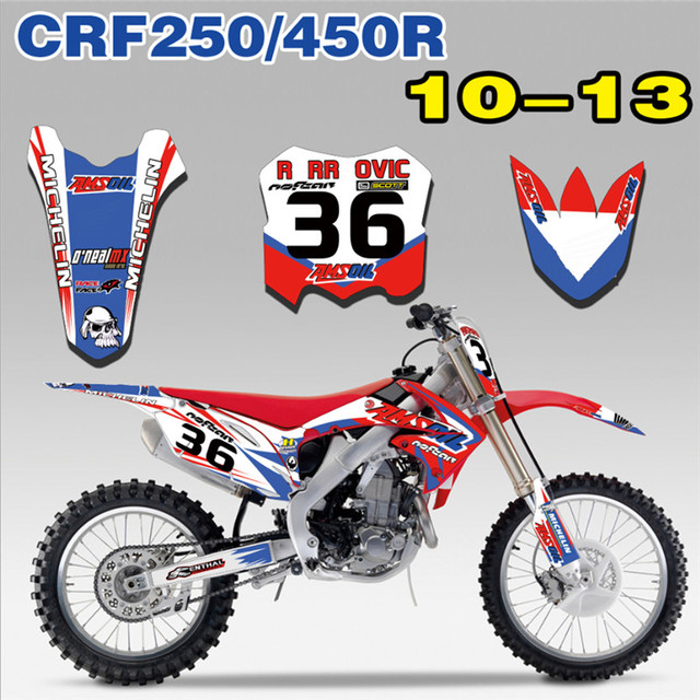 Free Customized Number Complete Set Gloss Graphics Decal Sticker For