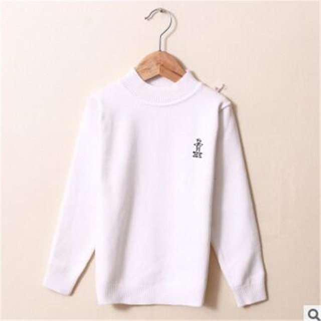 New Autumn Winter Sweater Cotton O-neck Full Length Wool Bottom Shirts Baby Boys Girls Sweater Casual Fashion Kids Clothes hx009