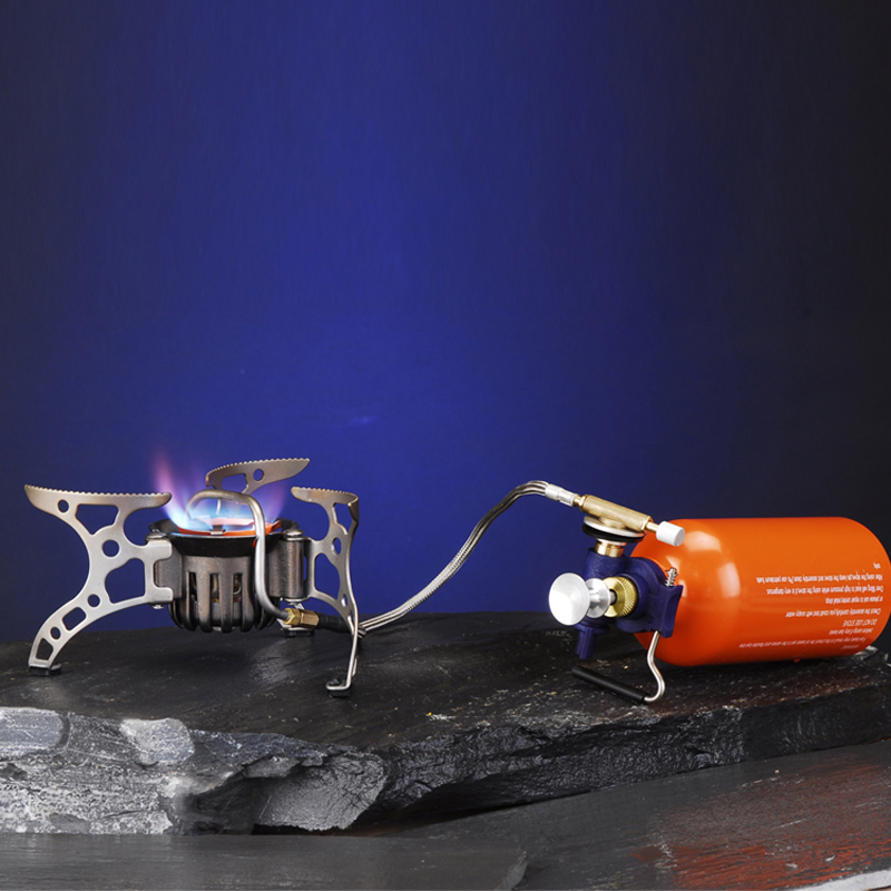 BRS 8A oil gas multi purpose outdoor camping picnic gas stove cooking portable split windproof gas stove hiking survival stove in Outdoor Stoves from Sports Entertainment