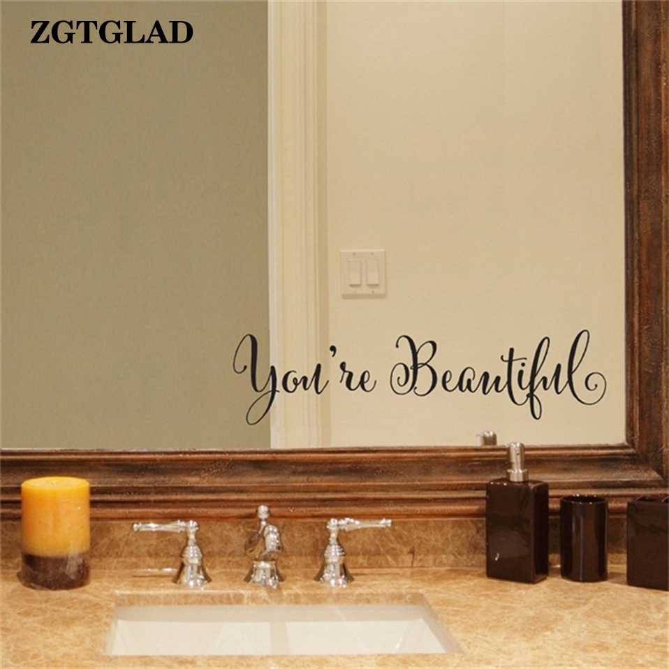 Zgtglad 1 set home deocr you 39 re beautiful wall stickers - Beautiful wall stickers for living room ...