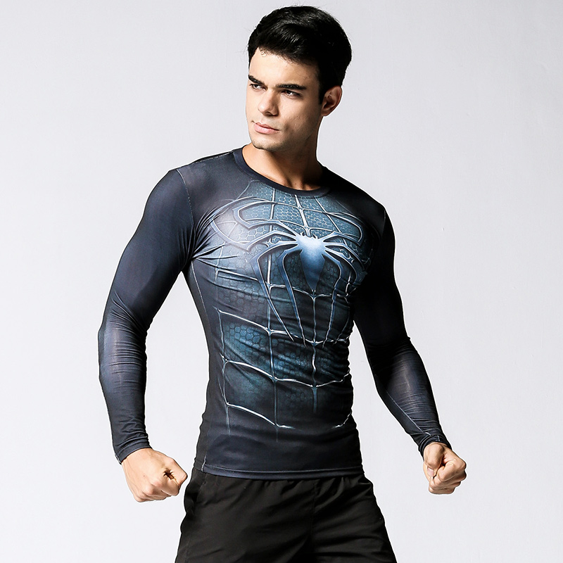 Males shirt Plus Dimension Compression Shirt Fast Dry Extremely elastic cosplay Tremendous hero Health Clothes Bodybuilding Males Crossfit clothes working, clothes footwear, t-shirt males,Low-cost clothes working,Excessive High quality clothes...
