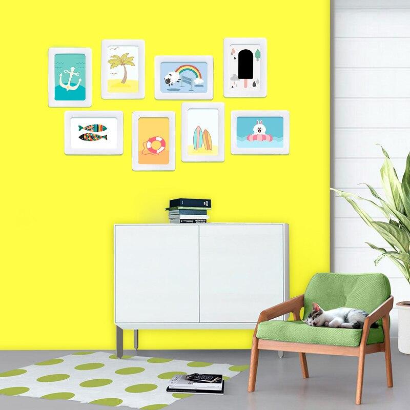 Сделай Сам, доска для записей, сухая салфетка, железные магниты для рисования сообщений, граффити, обучающая желтая доска, наклейки на стену для дома и школы - 3