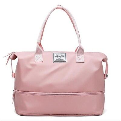 3f53308d1ef1 Pink Women Sport Bags For Gym Duffel Luggage Shouder Bag Sport Fitness Bag  Yoga Waterproof Large