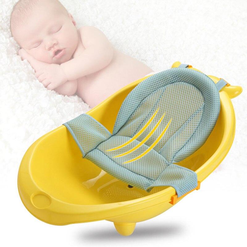 bebe banho de malha assento suporte rede 01