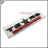 Black Red Finish 3D Texas Edition Emblem Badges For Chevrolet Silverado GMC Sierra Also Universal For