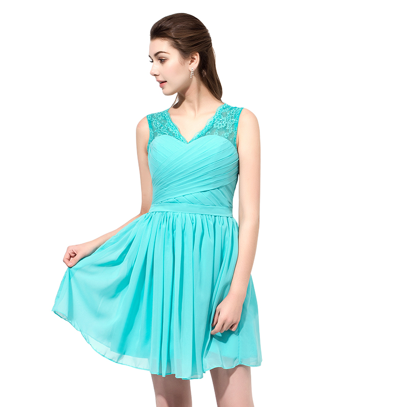 Good In Stock Cheap Inventory Clearance Short Homecoming Dresses V Neck Pleat Chiffon Prom Party Dresses Cocktail Dresses Sld358 Weddings & Events