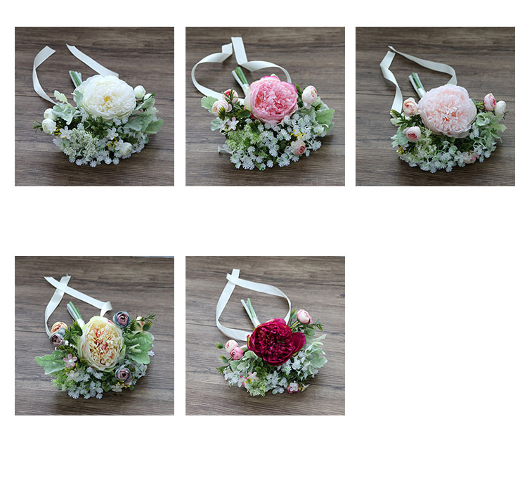 Wedding Bouquet for bridesmaids flowers artificial rose peony (3)