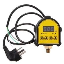 лучшая цена Digital Automatic Air Pump Water Oil Compressor Pressure Controller Switch For Water Pump On/Off Au Plug