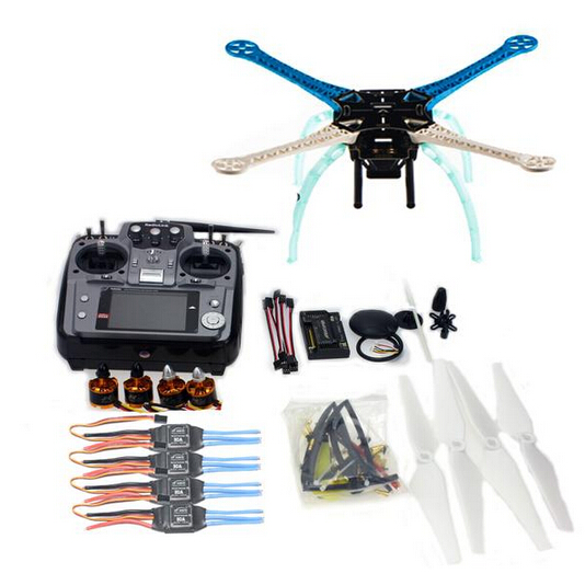 DIY GPS Drone S500-PCB Multi-Rotor Frame Full Kit APM2.8 Flysky 2.4G AT10 TX&RX Motor ESC NO Battery Charger F08191-I 500mm multi rotor air frame kit s500 w landing gear esc motor kk xcopter v2 9 board rx