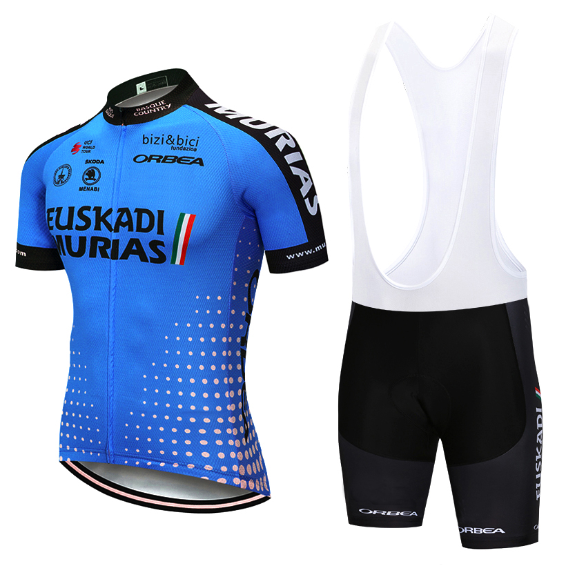 New 2019 EUSKADI TEAM cycling jersey 9D bike short MTB Ropa Ciclismo Summer BIKE WEAR quick dry BICYCLING Maillot Culotte suit 2018 pink ef team long sleeve cycling jersey 9d gel pad bike pants suit mtb ropa ciclismo pro bicycling maillot culotte wear