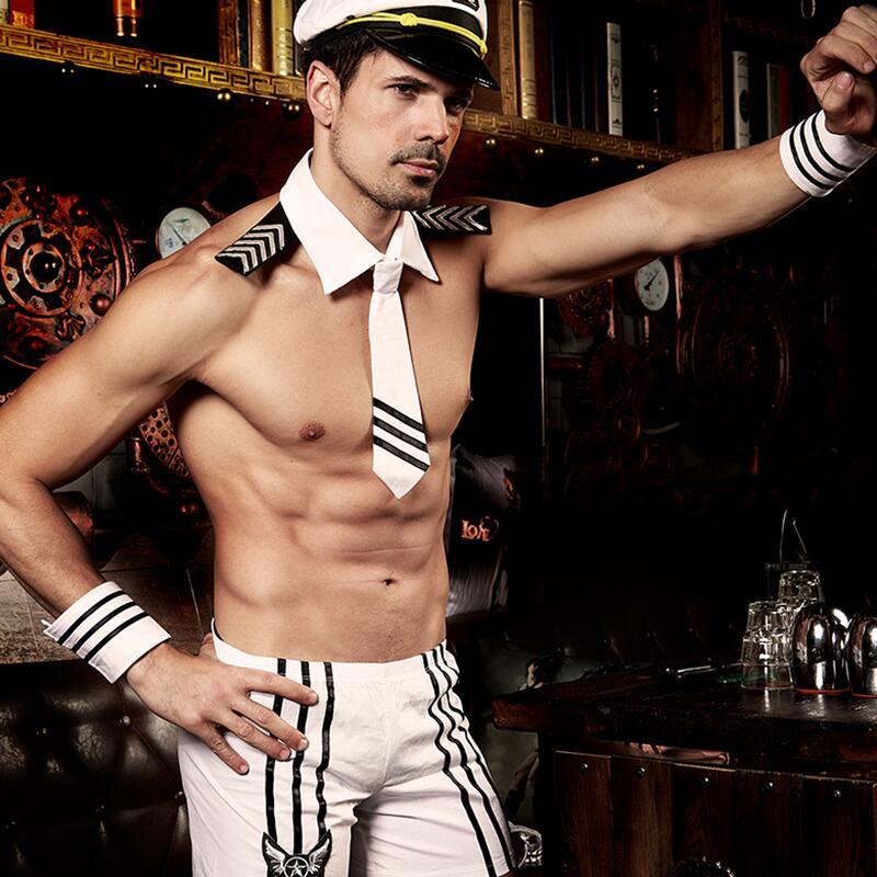 Sexy Slim Fit White Seaman Man Sexy Sailor Costume Hot Erotic Sets