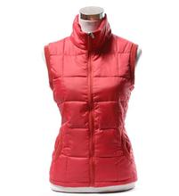 Hot! 2015 New Arrival Ladies Stand Collar Cotton Vest High Quality Winter Outwear vest for Christmas Gift vest Size /XL/XXL/XXXL