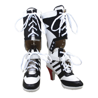 Suicide Squad Cosplay Boots Harley Quinn Joker Cosplay Shoes DC Movie Boots Adult Women High Heel