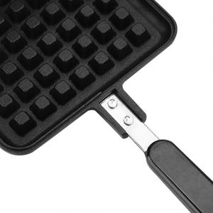 Image 5 - DIY Heart Shape Non stick Waffle Baking Mold Waffle Mould use for fuel gas stove kitchen Cake Baking Dish for Octopus balls roll
