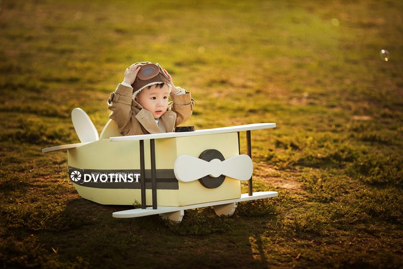 Dvotinst Newborn Baby Photography Props Wooden Posing Aircraft Plane Posser Bebe Accessories Infant Studio Shoot Photo Props