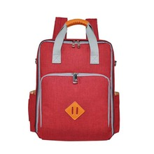 Korean version of the laminated zipper bag travel baby care diaper cart maternal leisure waterproof Mummy tote