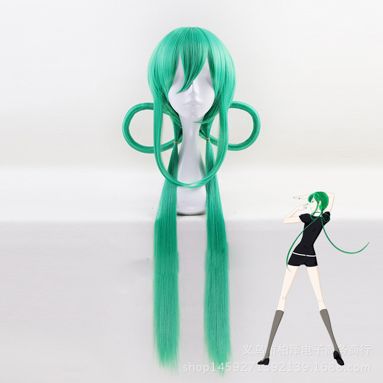Land of the Lustrous Houseki no Kuni Jade Green 70cm Long Straight Synthetic Hair Cosplay Halloween Carnival wig for Women