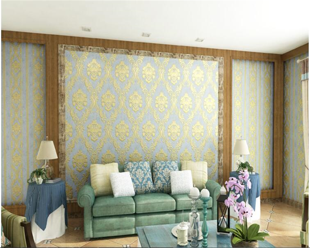 beibehang Nonwoven fine pressure 3d wallpaper environmental protection vertical stripe AB section with papel de parede wallpaper beibehang papel de parede wallpaper fine
