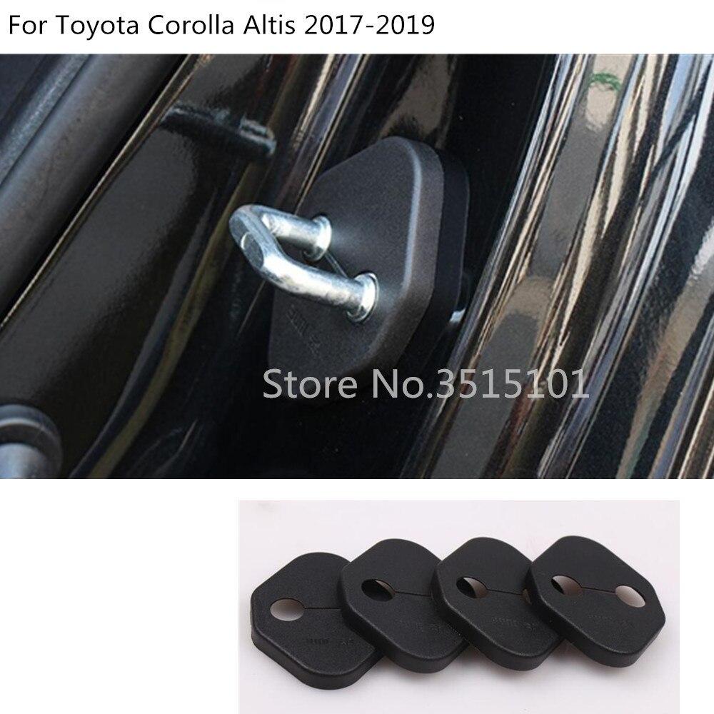 Car Door Stop Rust Waterproof Protector Cover 4pcs For Toyota C-HR 2016-2019
