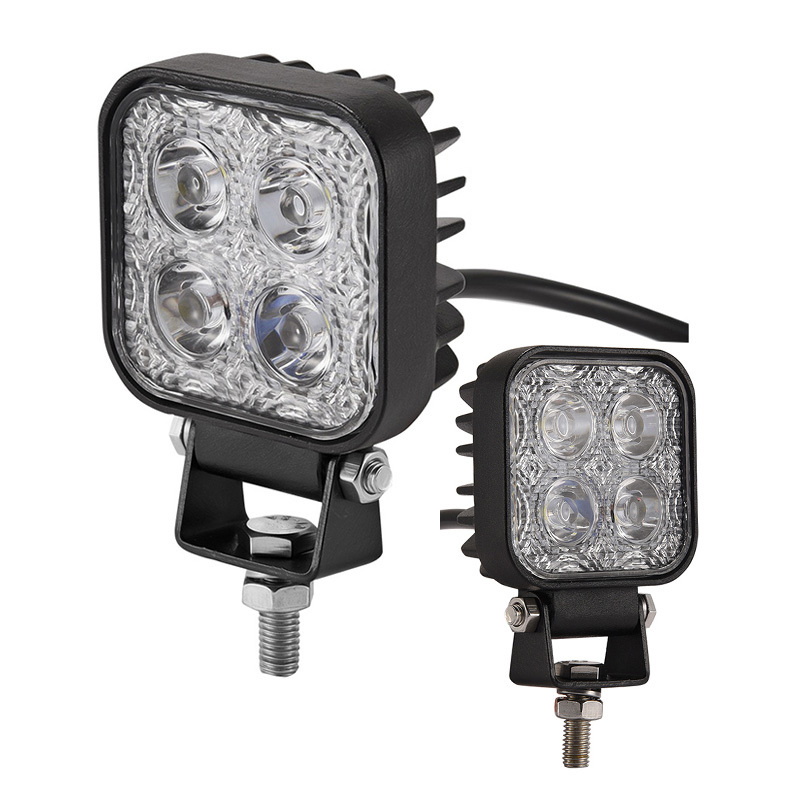 1PCS New 12W 12V LED Work Light Bar Spotlight Flood Lamp Driving Fog Offroad LED Work Car Light For Offroad 4x4 4WD Auto Lamp