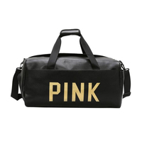 Quality Fashion Women Travel Bag PU Leather Couple Pink Letter High capacity Hand Luggage New Duffle Bag
