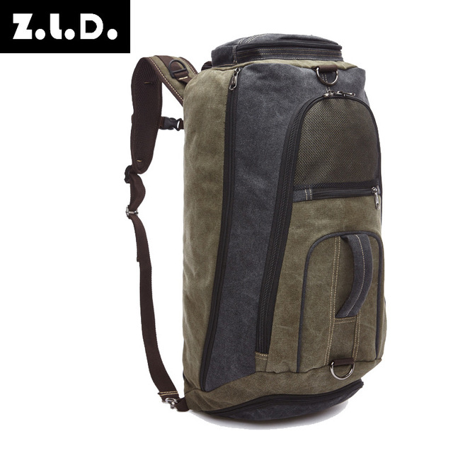 55b8bf9ec6fe US $42.63 48% OFF|Z.L.D. 2018 New Men's Canvas Backpack Shoulder mens  Backpack Travel bags Kanken Backpack-in Backpacks from Luggage & Bags on ...