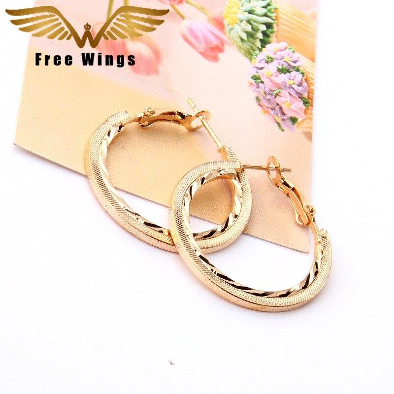இplated Gold Hoop Earrings New Wedding Bohemian Earings Fashion