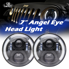 CO LIGHT 1 Pair 80W Led Headlights DRL Round 7 Inch High Low Beam H4 H13