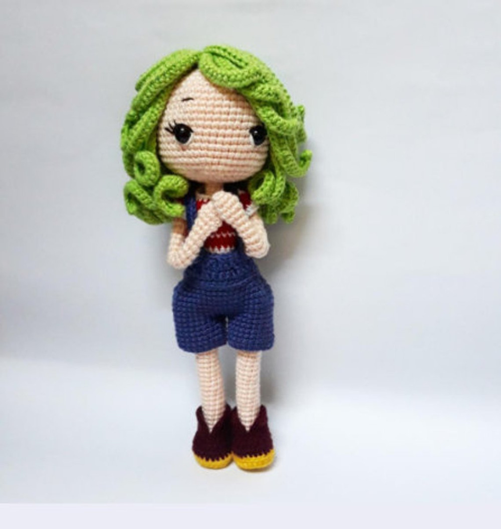 Crochet Toys  Amigurumi  Rattle  Fashion Girl   Number  SQ001