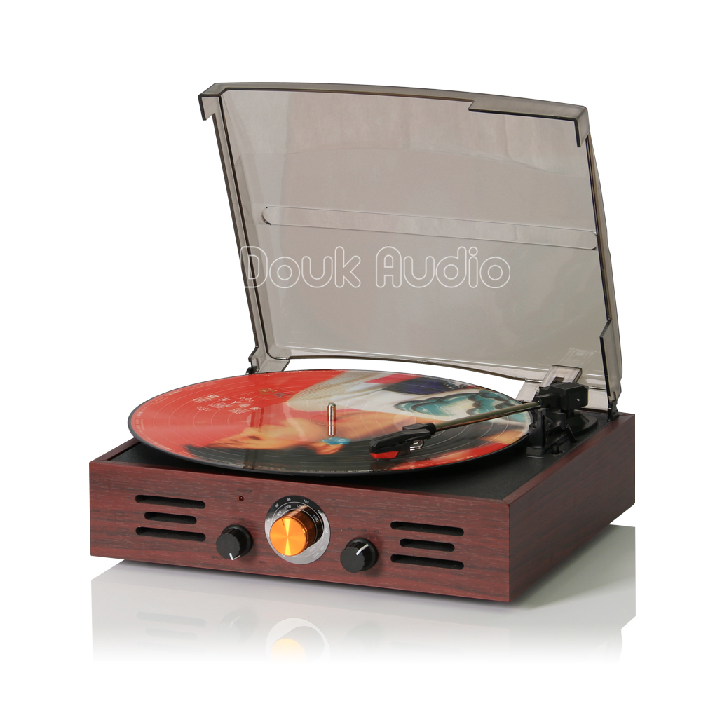 Douk Audio Nostalgic Classic 3-Speed Stereo Turntable Phonograph LP Vinyl Record Player AM/FM Radio Built-in Speakers все цены
