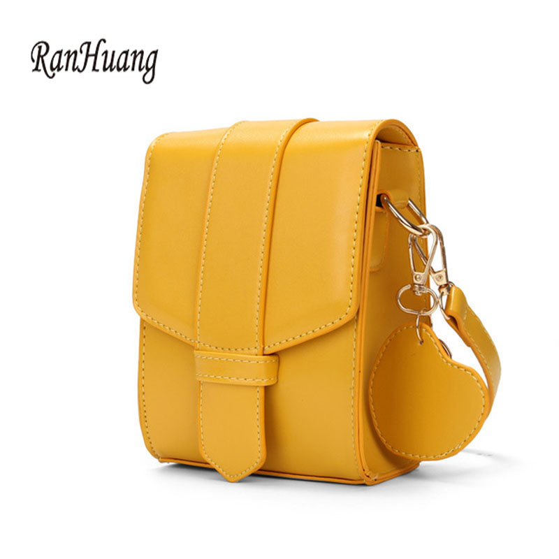 RanHuang New Arrive 2019 Women Mini Messenger Bags Vertical Design Pu Leather Shoulder Bags Phone Bags Fashion Girls Flap A1456