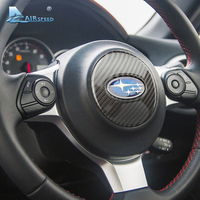 Carbon Fiber Car Steering Wheel Emblem Stickers Door Sill Plates Seat Heating Button Frame For BRZ