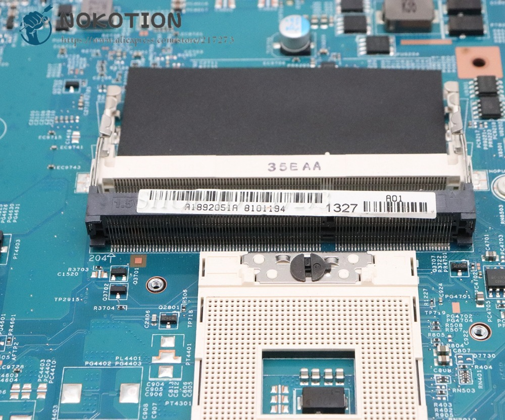NOKOTION For Sony Sve17 Sve1711 Laptop Motherboard HM76 DDR3 HD7600M graphics A1892051A 48.4MR10.021 MBX-267 MAIN BOARD