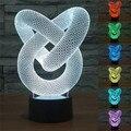 Lâmpada de Construção 3D Gráficos Abstratos 6 Colorido Gradiente Luz Da Noite para Crianças Home Decor Novidade Luz Led luminaria de Mesa mesa