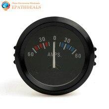 Universal 2 Inch 52mm Car Ammeter Voltmeter 60-0-60 AMP Gauge Volt Meter for Boat Truck ATV AMP Meter