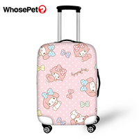 WHOSEPET Travel Luggage Protective Cover Little Girls Prints Waterproof Suitcase Cover Cartoon Pattern Dust proof Suitcase Cover
