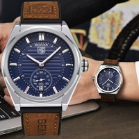 2018 Benyar Mens Watch Top Brand Luxury Military Watch Quartz Analog Wrist Watch Chronograph Calendar Watches