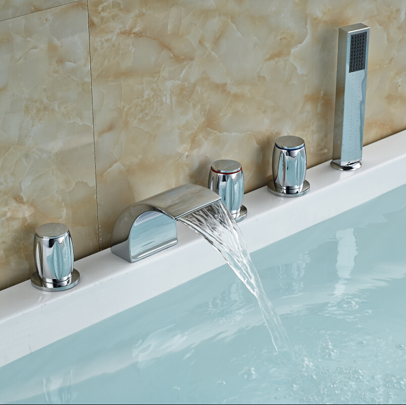 Image Of Bathroom Waterfall Faucets