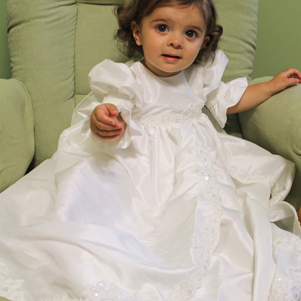 2017 New Flower Girls Dresses For Wedding Gowns Lace Baby Girl Clothes Satin Dresses for Communion Long Christmas